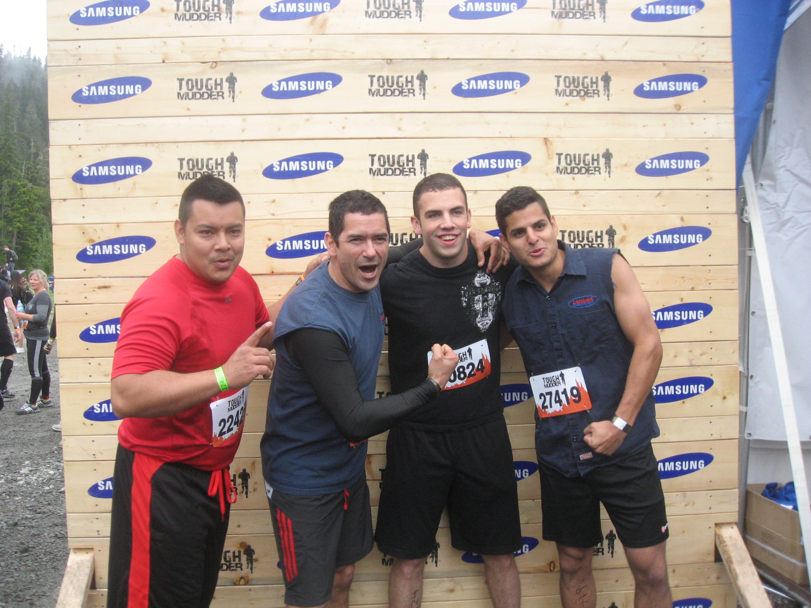 Tough Mudder Competition Pic - Getting Pumped Up!